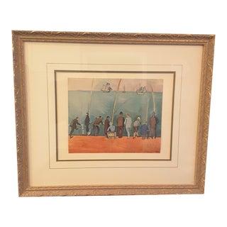 Framed Raoul Dufy Anglers Print
