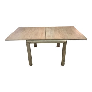 Vintage Grasscloth Extension Dining Table