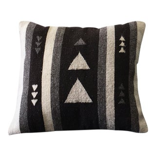 Black & Grey Wool Pillow Cover