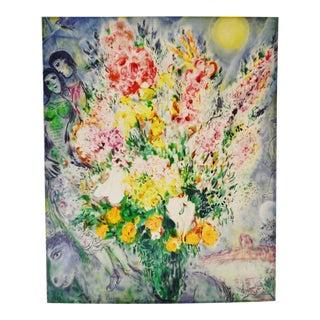 Vintage 1950's Marc Chagall Le Bouquet Illuminant Le Ciel Premium Giclee Print