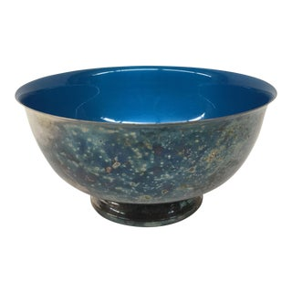 Vintage Reed & Barton Turquoise Silver Bowl