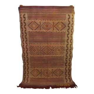 Moroccan Wool Rug Zemmour Kilim Style - 5′1″ × 7′5″