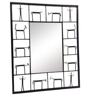 Rare Frederick Weinberg Mid-Century Mirror