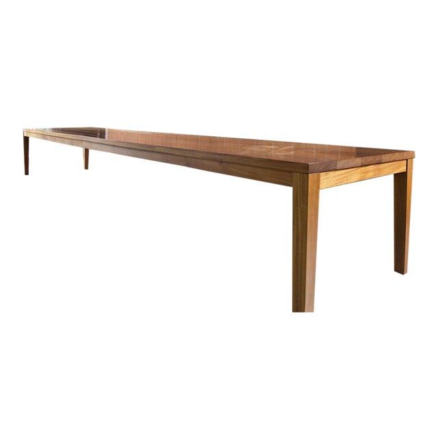 Custom Mahogany Dining Table - Image 1 of 3