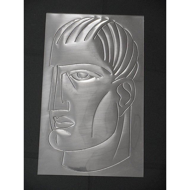 Original Mid Century Etching On Metal-Signed-Portrait - Image 3 of 5