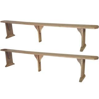 Pair of Narrow Swedish Benches
