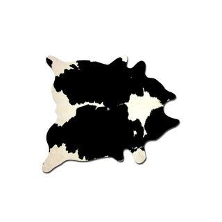 Black & White Cowhide Rug - 6' x 7'