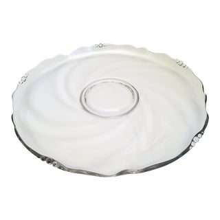 Swirl Crystal Serving Platter