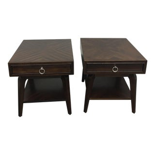 Zinc Door Brown Nightstands - A Pair