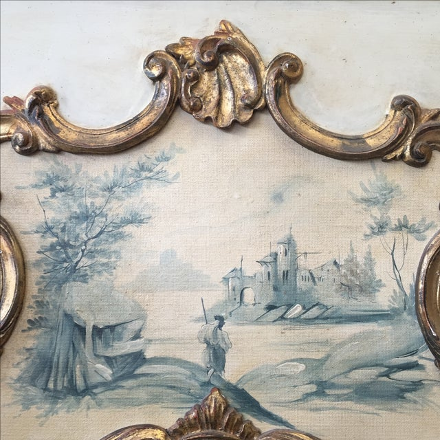 Hand Painted Italian Rococo Gilded Mirror - Image 9 of 11