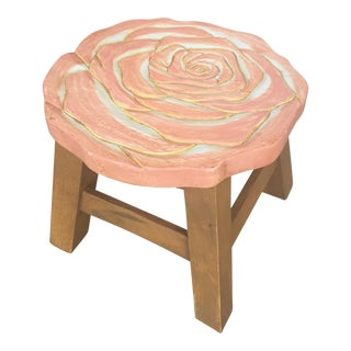 Blush Rose Motif Stool