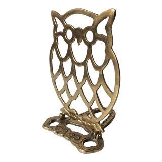 Deco Brass Owl Folding Bookend