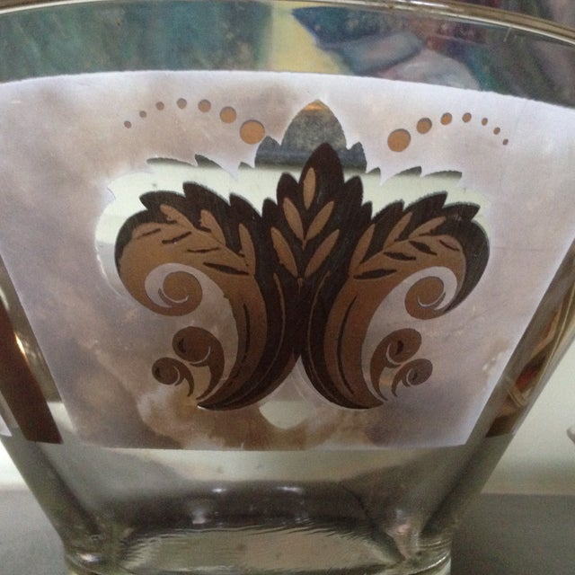 Mid-Century Glass Ice Bucket with Condiment Bowl - Image 10 of 11