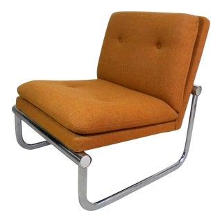 Mid Century Armless Chrome Chair