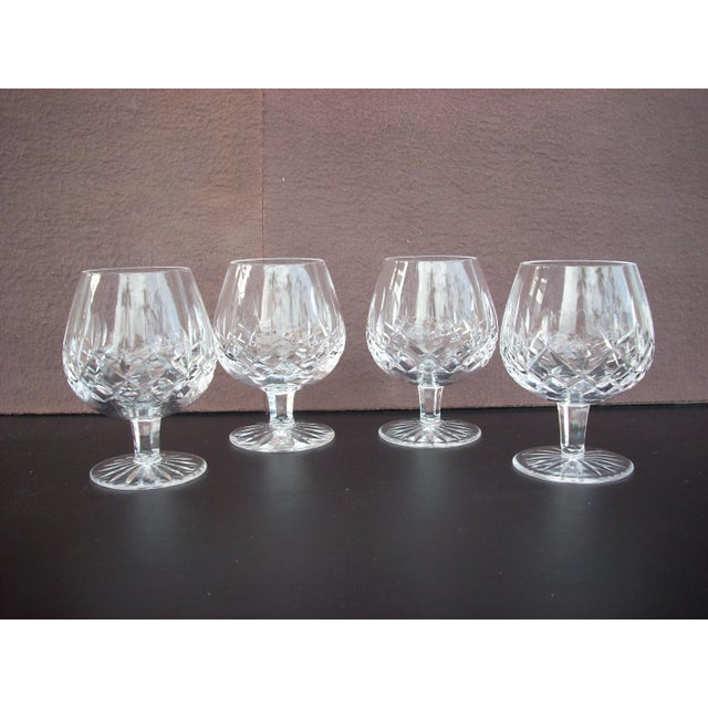 Waterford lismore cognac snifters set of 4 chairish - Waterford cognac glasses ...