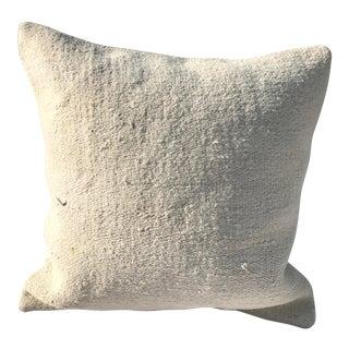 White Hemp Pillow Cover