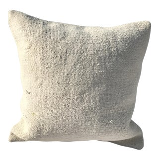 White Hemp Pillow Cover