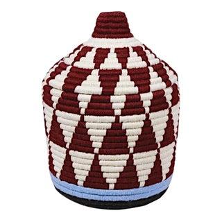 Moroccan Plum & White Bread Basket