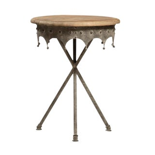 Industrial Iron Ornamental Side Table