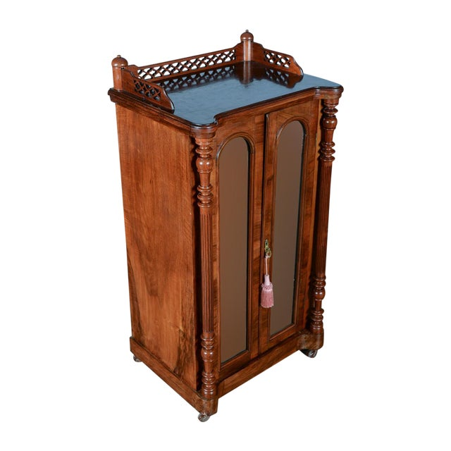 Antique Carved Mahogany Music Cabinet - Image 1 of 10