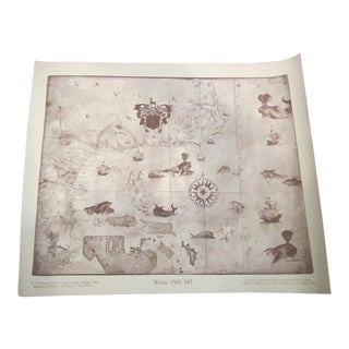 Reproduction C.1585 White Carolina Coastal Map