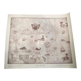 Reproduction C.1585 White Carolina Coastal Map