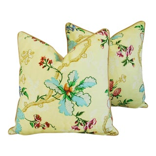 Custom Brunschwig & Fils Fabriano Pillows - a Pair