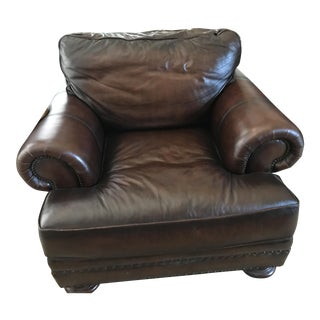 Bernhardt Brown Leather Chair