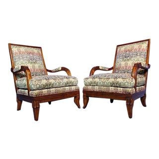 Hickory Chair Lounge Chairs - A Pair