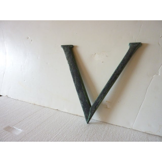 Image of 19th Century Bronze 'V'
