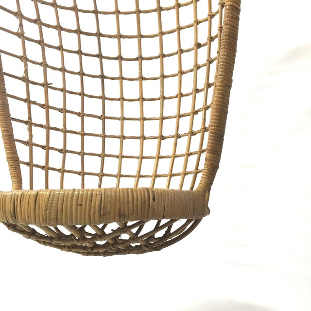 1960s Rohe Cane Hanging Chair - Image 3 of 5