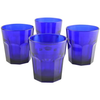 Vintage Cobalt Tumblers - Set of 4