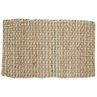 Hand Braided Beige Entrance Mat - 2' X 3'1""