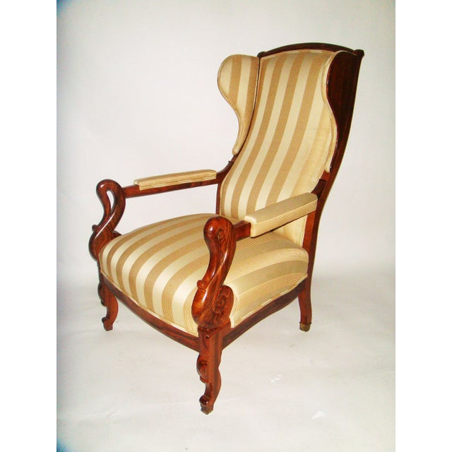 Louis Phillipe Wing Back Armchair - Image 2 of 6
