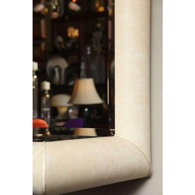Image of Springer Style Mirror Console in Faux Lizard