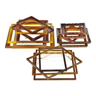 Vintage & Antique Wood Picture Frames - Set of 17