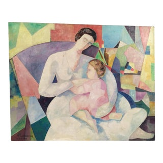 Mother & Child Original Signed Oil Painting on Canvas