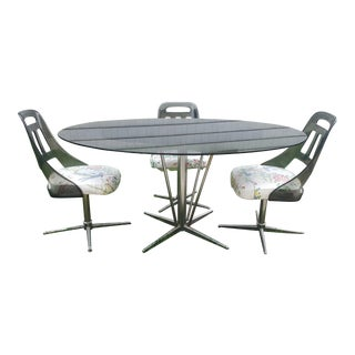 Mid-Century Modern Chrome Dining Room Set