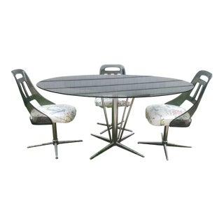 Mid-Century Modern Chrome Dining Room Set