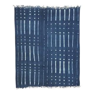 Vintage African Mud Cloth Throw Blanket