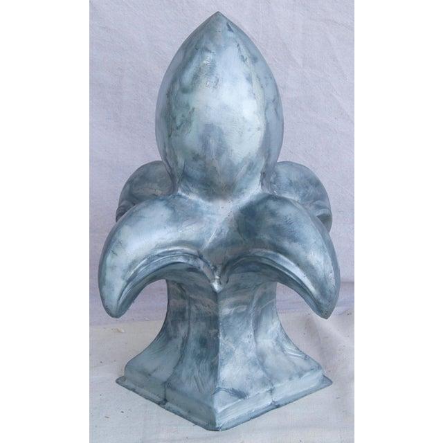 Large Architectural Silver Fleur-De-Lis Finial - Image 4 of 8