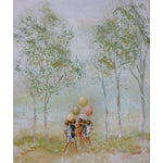 Image of Scott Children With Balloons Oil Painting