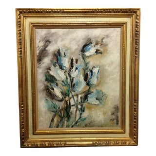 "Mid-Century Oil Painting ""Tulips"""