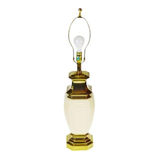Vintage Stiffel Porcelain & Brass Table Lamp