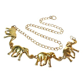 Brass Elephant Chain Belt