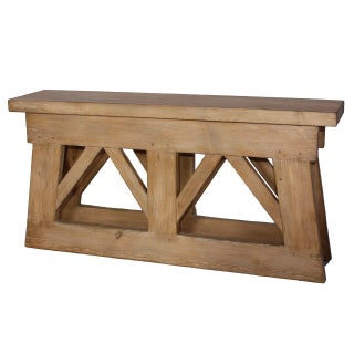 Sarreid LTD Rustic Bridge Console Table