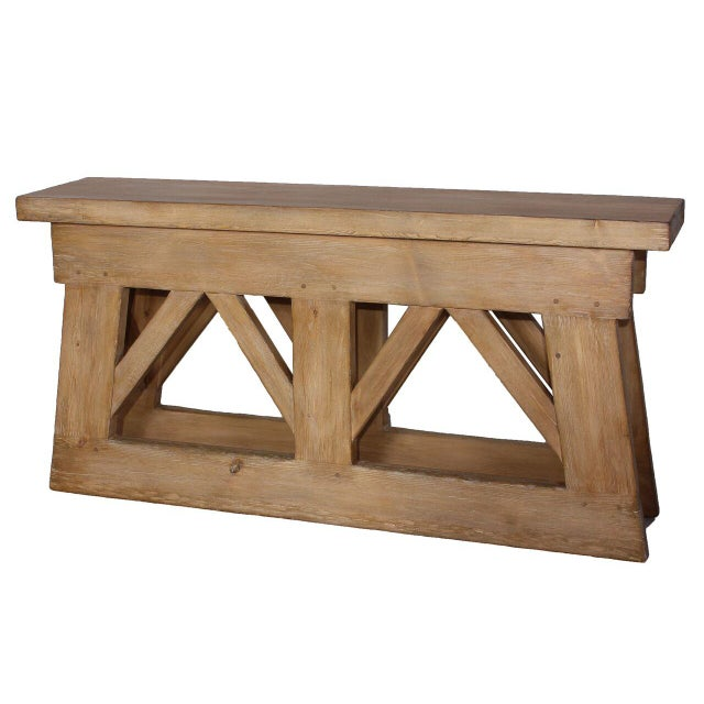 Image of Sarreid LTD Rustic Bridge Console Table