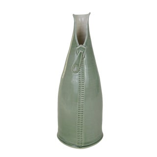 Scandinavian Handmade Green Vase