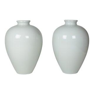 Two Large Porcelain Vases by KPM, German