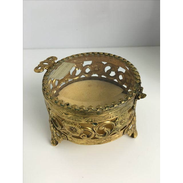 Vintage 24 Carat Gold Ormolu Trinket Box - Image 3 of 3